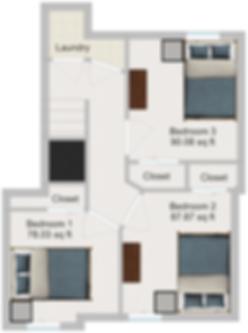 The Cluster Dinkytown Apartments Three Bedroom Floor Plan 102