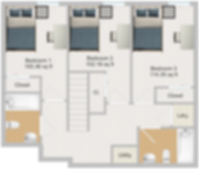 The Cluster Dinkytown Apartments Three Bedroom Floor Plan 107