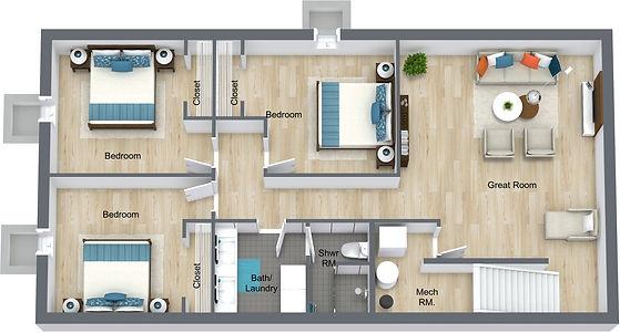 GGR - 832 18th - Lower Level - 3D Floor