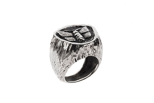 Silk&Silver 'Silk Moth' ring
