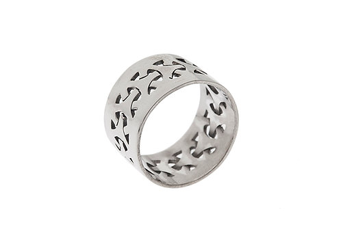Silk&Silver 'Celtic Band' ring