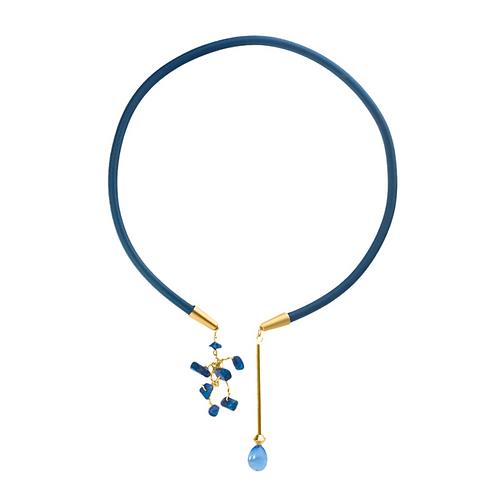 Asymmetric Torque Pendant-Lapis Lazuli