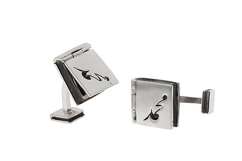 Silk&Silver 'Open The Book' cufflink