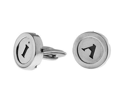 Silk&Silver 'Monograms' cufflink