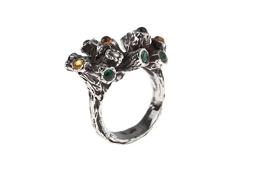 Silk&Silver 'Branching Out' ring