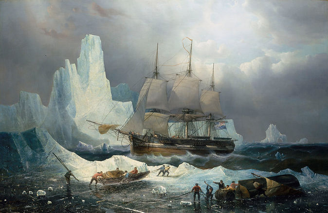 'HMS Erebus in the Ice' by Francois Etienne Musin