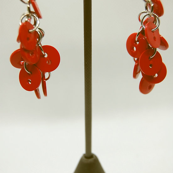 Red Button Craft Earrings