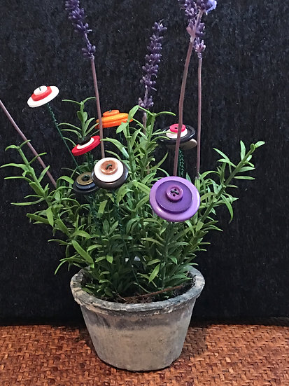 Multi colored button flowers