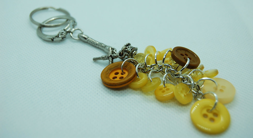 Shades of yellow never lose keychain