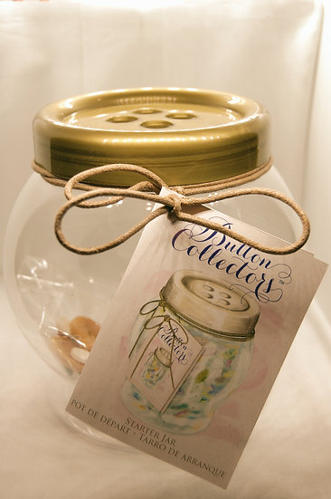 Button Craft Collector Jar
