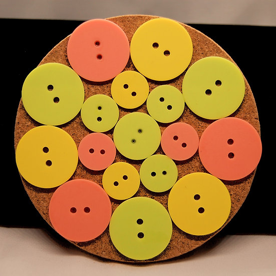 Lime,Yellow and Pink Drink Coaster