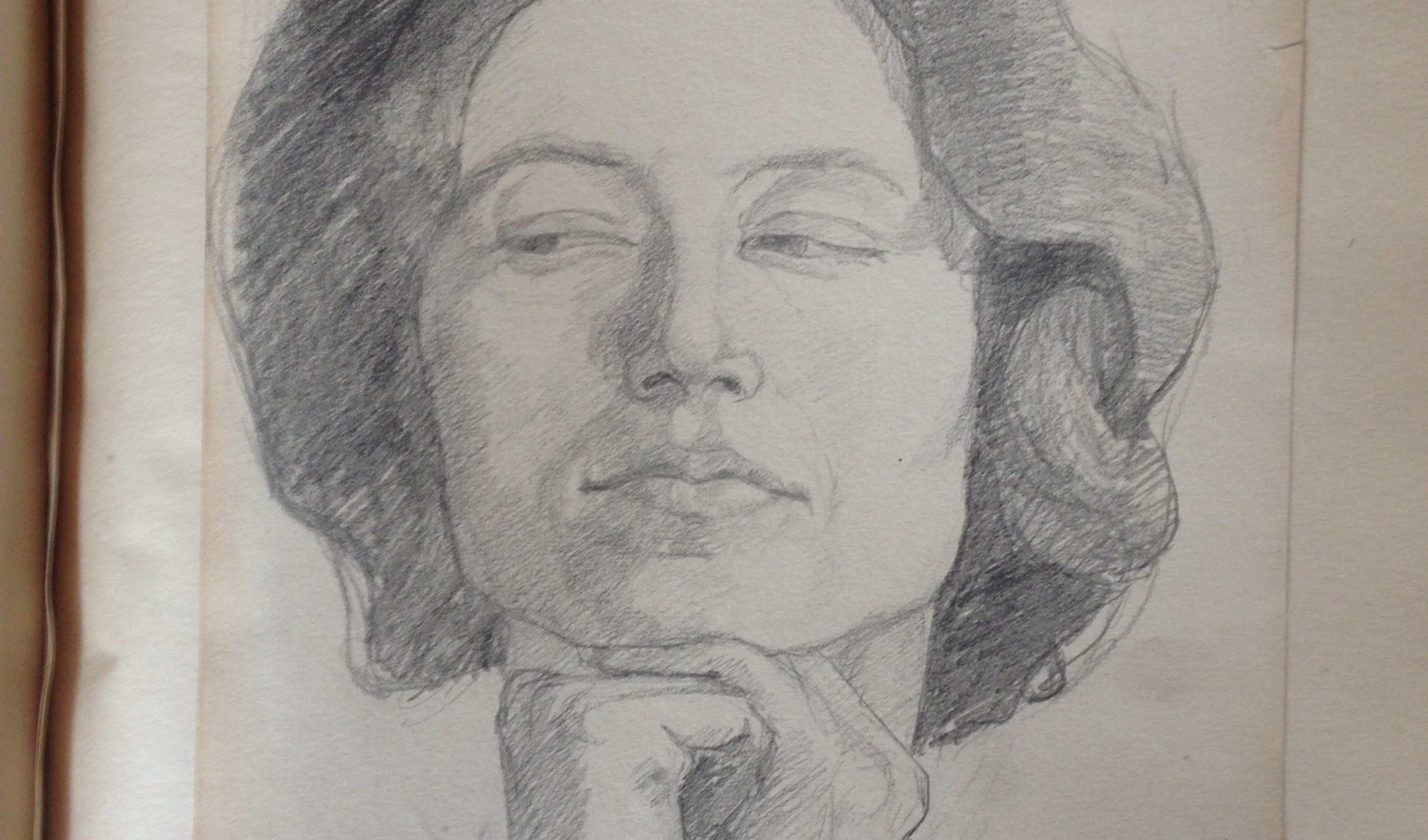 Sketch of Karen Ewald.  c.1908