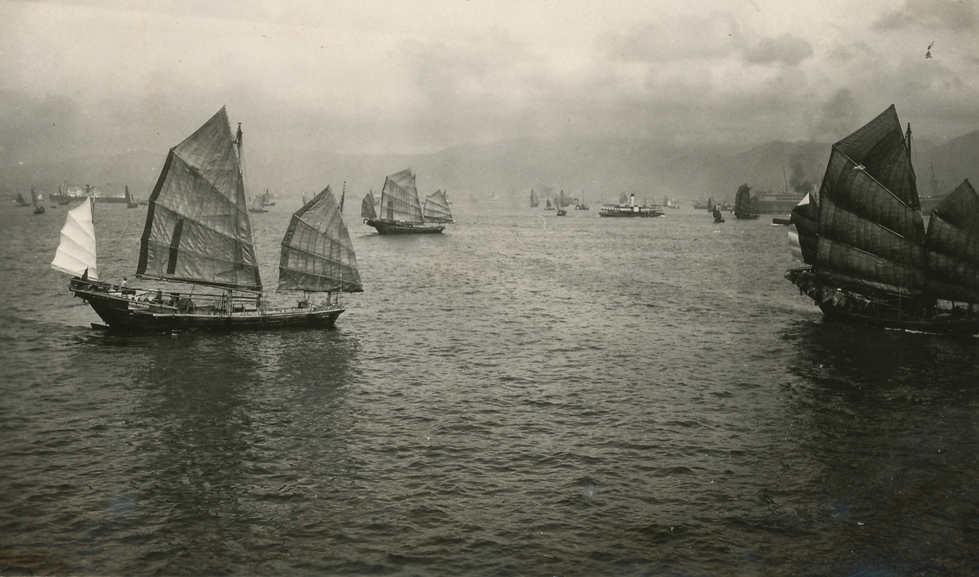 Hong Kong Bay. Taken from HMS Berwick. c.1936