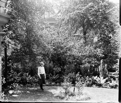 THE GIRL IN THE GARDEN c.1910's