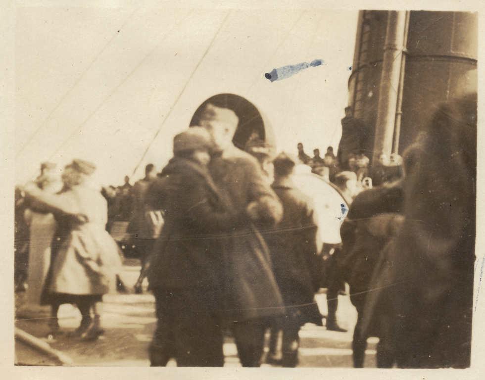Arriving in New York. RMS Mauretania c.1919