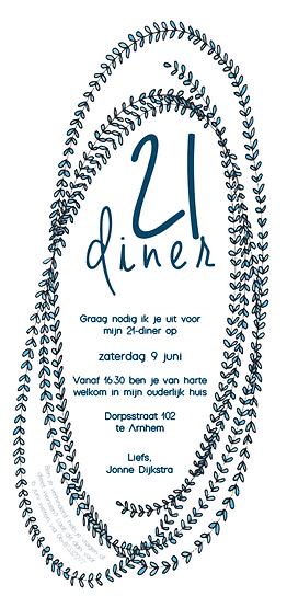 21-Diner uitnodiging