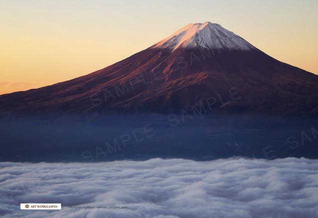 早朝の雲海と富士山