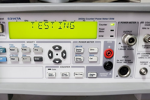 Agilent 53147A Microwave Counter / Power Meter / DVM 20GHz