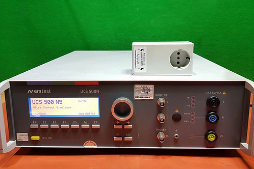 EM TEST UCS 500N5 Multifunction Generator; Burst, Surge, Power Fai