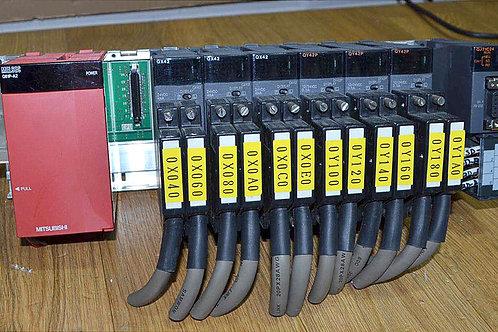 Mitsubishi Q61P-A2, QX42, QY42P, QJ71C24 PLC Set
