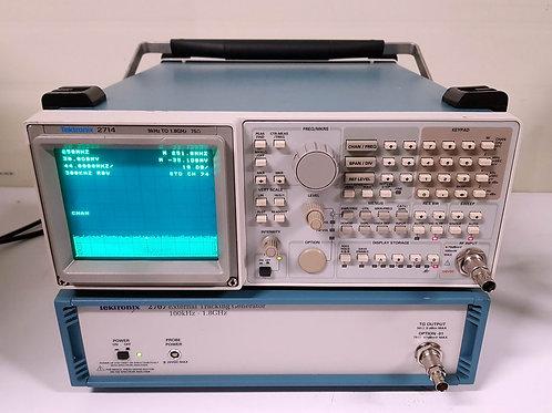 Tektronix 2714 2707 1.8GHz Spectrum Analyzer Tracking Generator