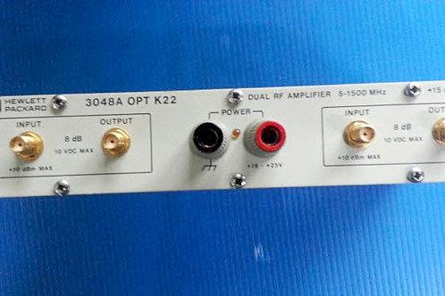 HP 3048A OPT K22 Dual RF Amplifier