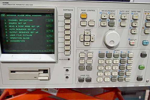HP 4145B Semiconductor Parameter Analyzer & 16058A Test Fixture