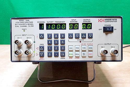 Krohn-Hite 3998 Low-Pass/High-Pass Butterworth/Bessel Dual Channel Filter
