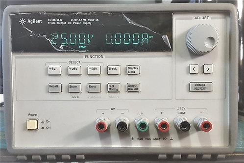 Agilent E3631A OE3 triple output dc power supply