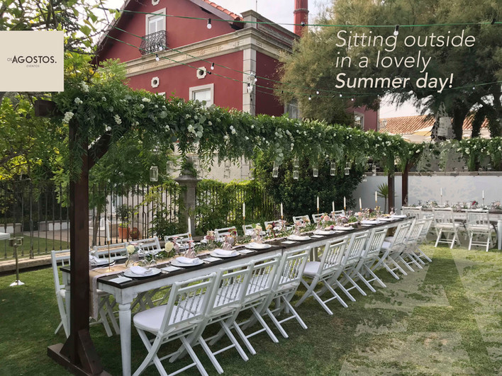Breathtaking greenery wedding decor at Os Agostos