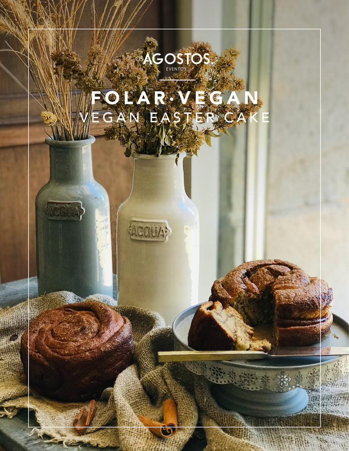 Folar Vegan • Vegan Easter Cake