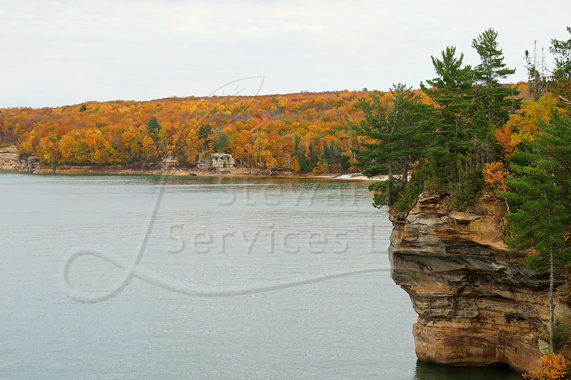 Colorful Fall Shoreline