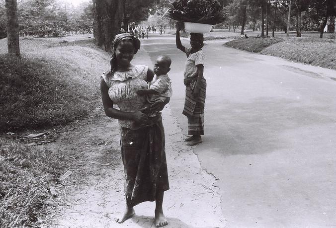 Women on a street in Aba, Eastern Region