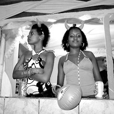 Young Ladies at Carnival