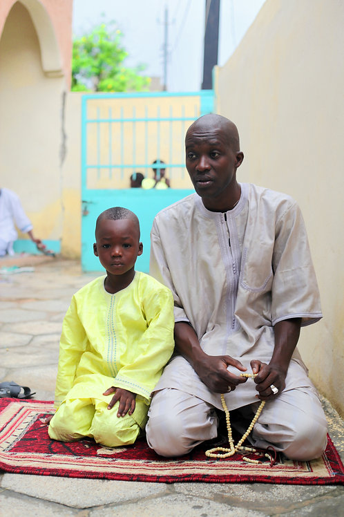Father and Son at Mosque
