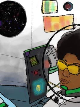 """Jamaican Space Program, Wynter Research Center"" digital sketch✨"