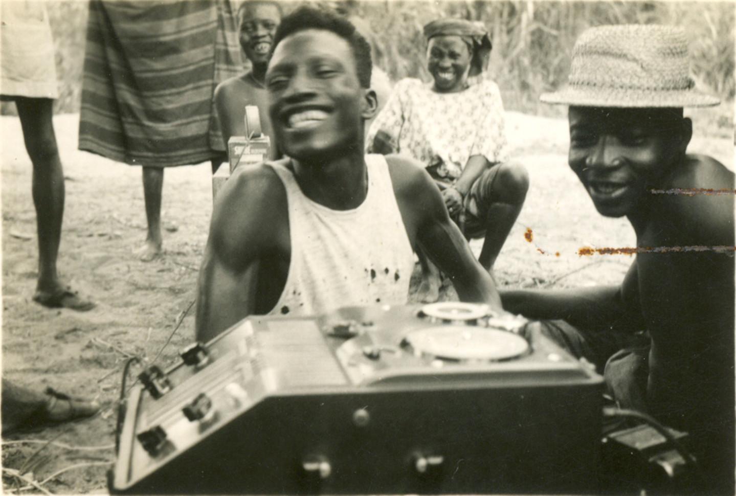 Two smiling informants, Nigeria