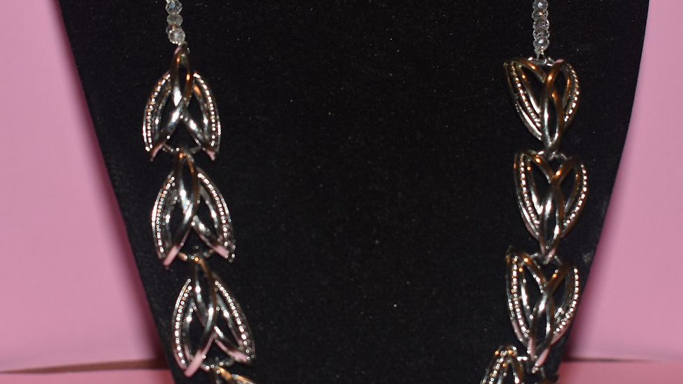 Antique Sterling Silver Crystal Necklace