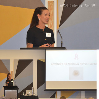 Danielle speaking at APAN conference