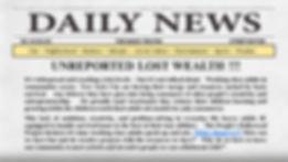 Daily News pg 1.