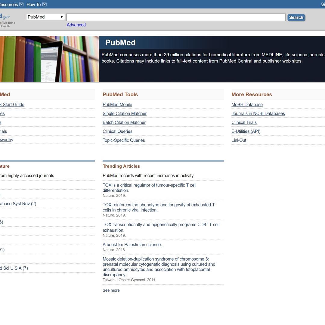 Access MeSH terms via PubMed