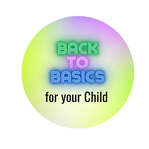 Back to Basics-Child Add On: 20 Minute Session