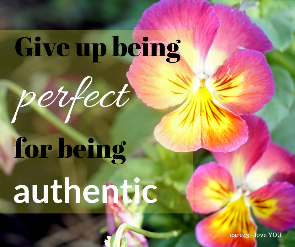 Give up being perfect