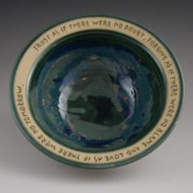 """Trust"" Bowl by Bryan Becker Clay Werks"