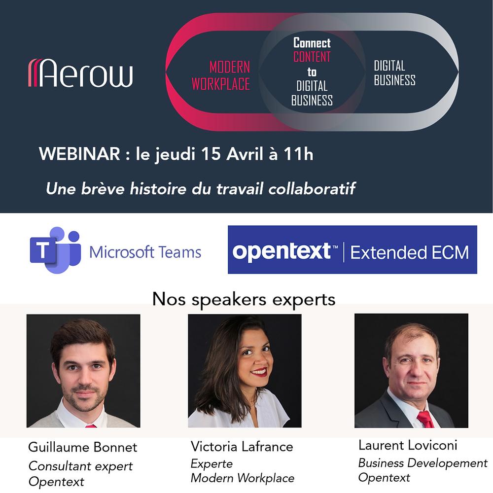 "Une brève histoire du travail collaboratif : opentext, Extended ECM , Microsoft 365""   #ModernWorkplace #Microsoft #M365 #O365 #Conferences #Experts #xECM #OpenText #GED #ECM #ExtentedECM #OpenText"