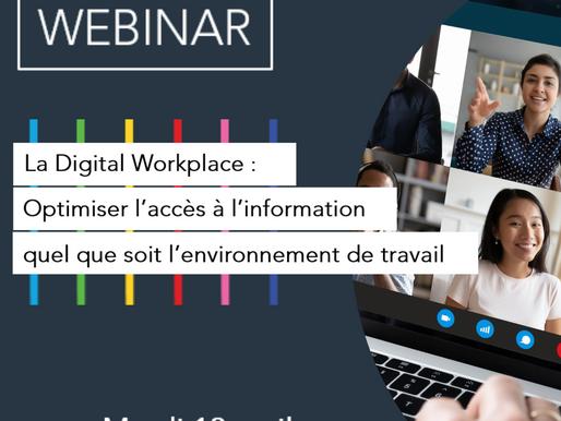 """Premier webinaire, coprésenté par Aerow et son nouveau Partenaire Sinequa : """"La Digital Workplace"""""""