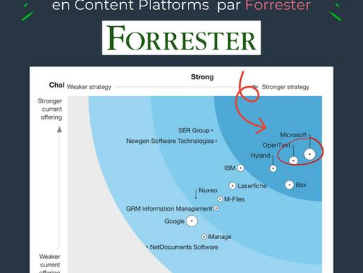 The Forrester Wave TM annonce Microsoft et OpenText, comme top leaders des Content Plateforms