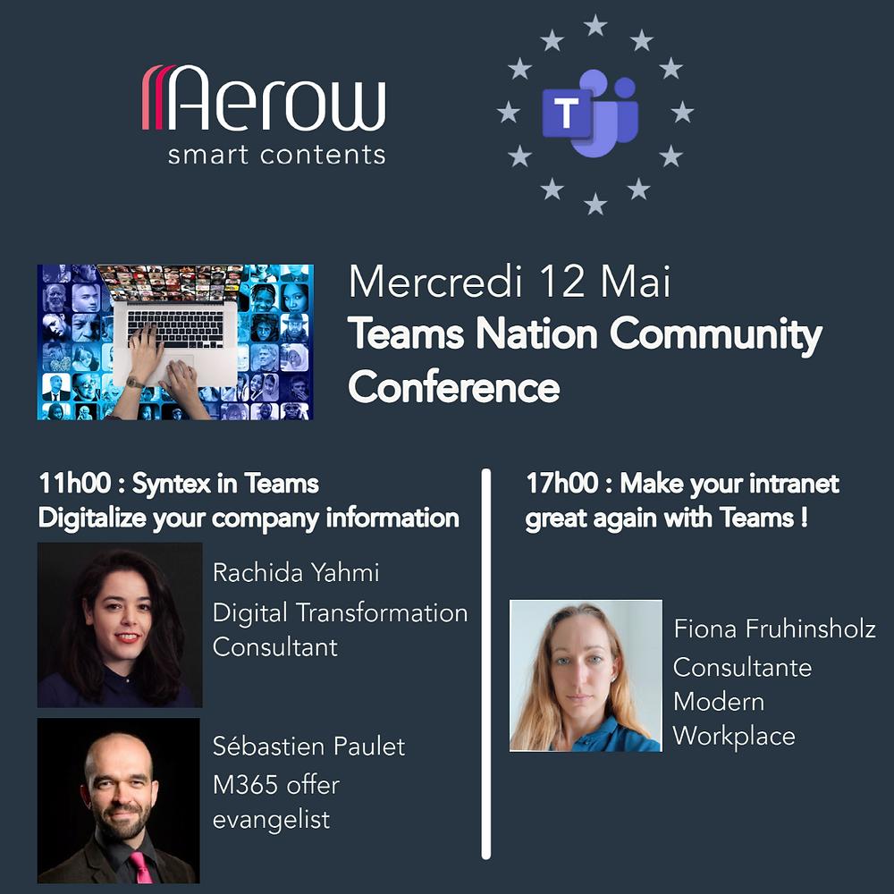 Evènement du 12/05/2021:   Conférence de Microsoft «Teams Nation Community Conference»