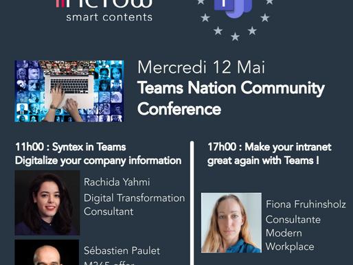 Mercredi 12 mai : « Teams Nation » la conférence dédiée à Microsoft Teams