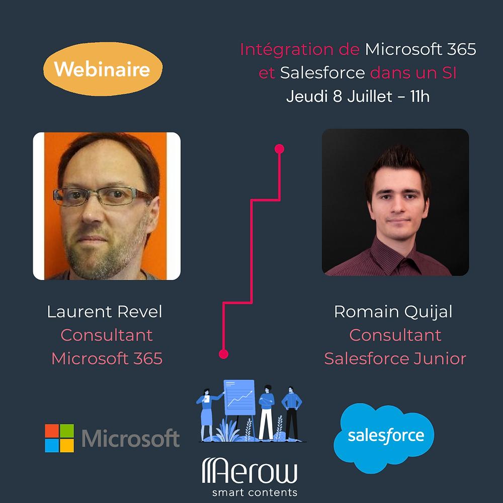 Evénement du 01/07/2021 : « Interactions entre M365 et Salesforce »